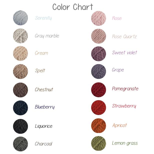scegli tu il colore, solo lana misto alpaca!