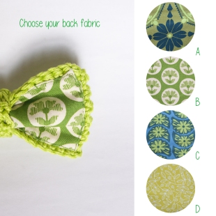 Puoi scegliere la stoffa da abbinare sul retro